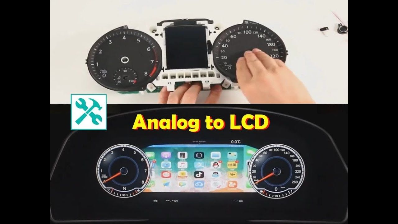 Vw Analog To Digital Lcd Dashboard Cluster Conversion Digital Dashboard Lcd Analog