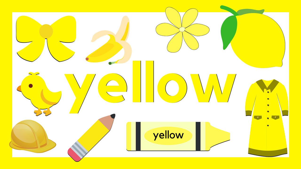 Learn Colors Yellow Learning Colors Preschool Learning Activities Preschool Learning [ 720 x 1280 Pixel ]