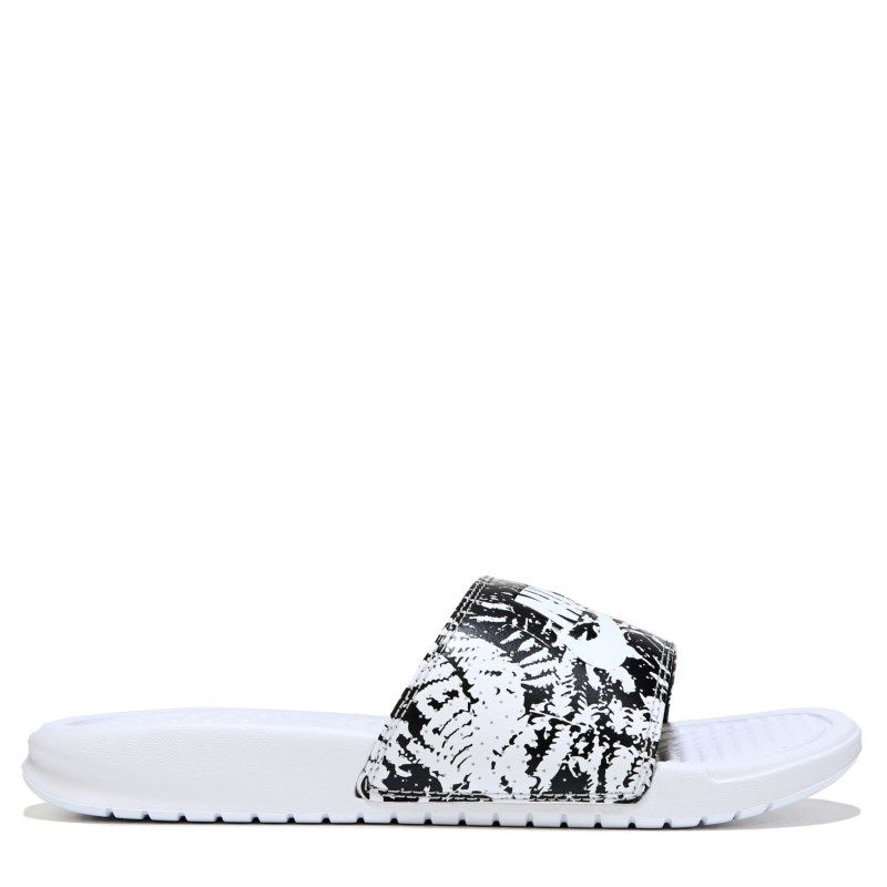 buy online 5ec72 7b2b6 Nike Women s Benassi Jdi Slide Sandals (White White Black) - 12.0 M