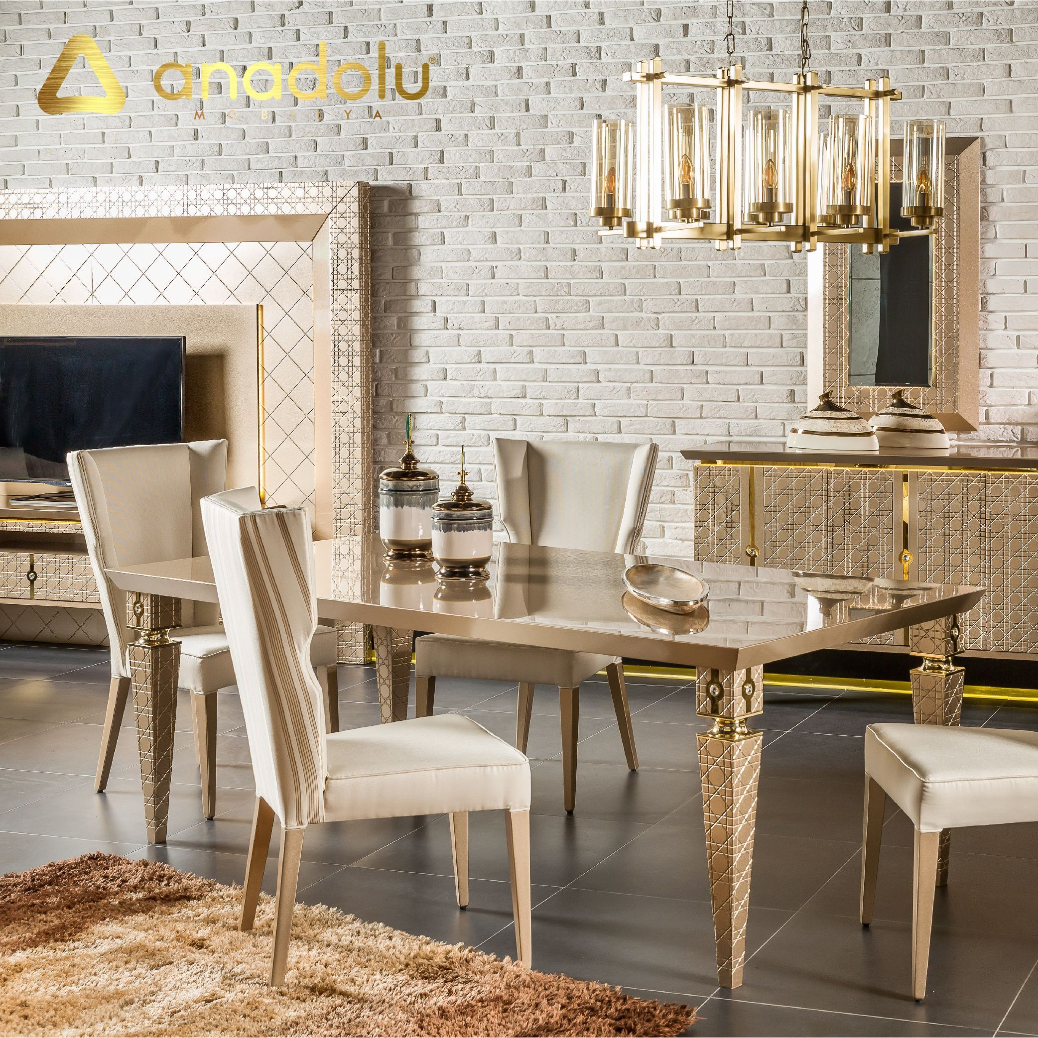 Wois Yemek Ve Oturma Takimi Anadolu Mobilya Anadolumobilya Anadolu1957 Ankaramobilya Icmimari Oturm Dining Table Apartment Design Dining Room Decor