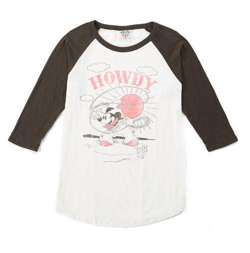 Mickey Mouse Cowboy Shirt Mickey Mouse Cowboys Shirt Raglan Tee Women