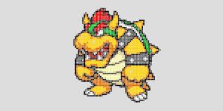 Résultat De Recherche Dimages Pour Pixel Art Bowser