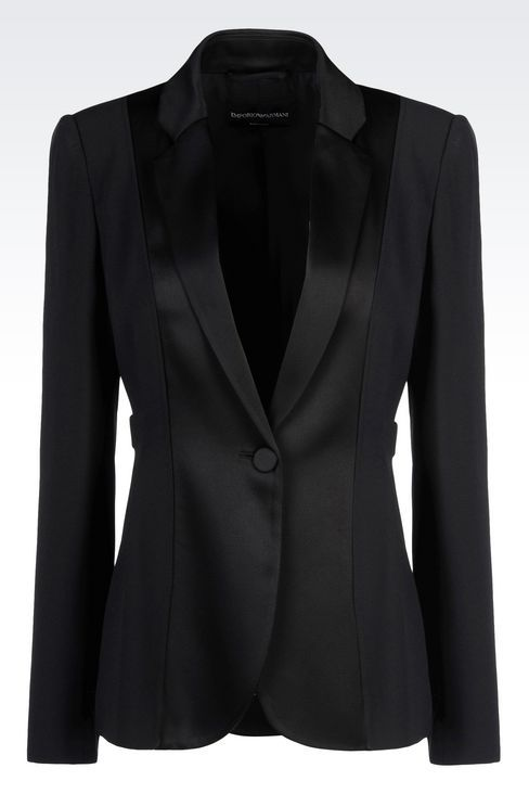 Emporio Armani Women One Button Jacket - TUXEDO JACKET IN CADY ...