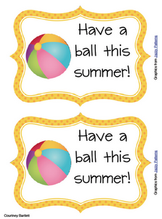 graphic regarding Have a Ball This Summer Free Printable identified as Swimming Into Instant: stop of the yr items close of yr