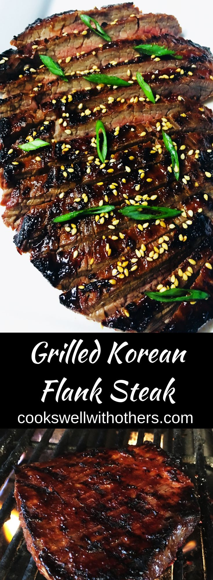 Grilled Korean Flank Steak - Cooks Well With Others
