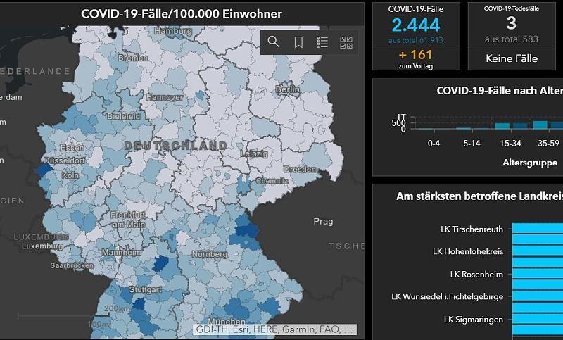 Infizierte Deutschland Karte