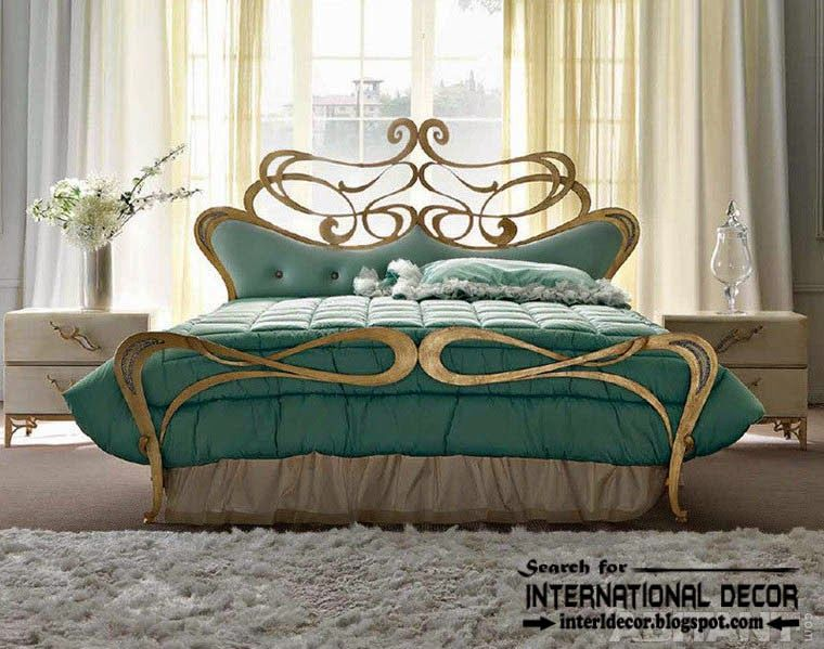 Luxury Italian Wrought Iron Beds And Headboards 2015 Golden