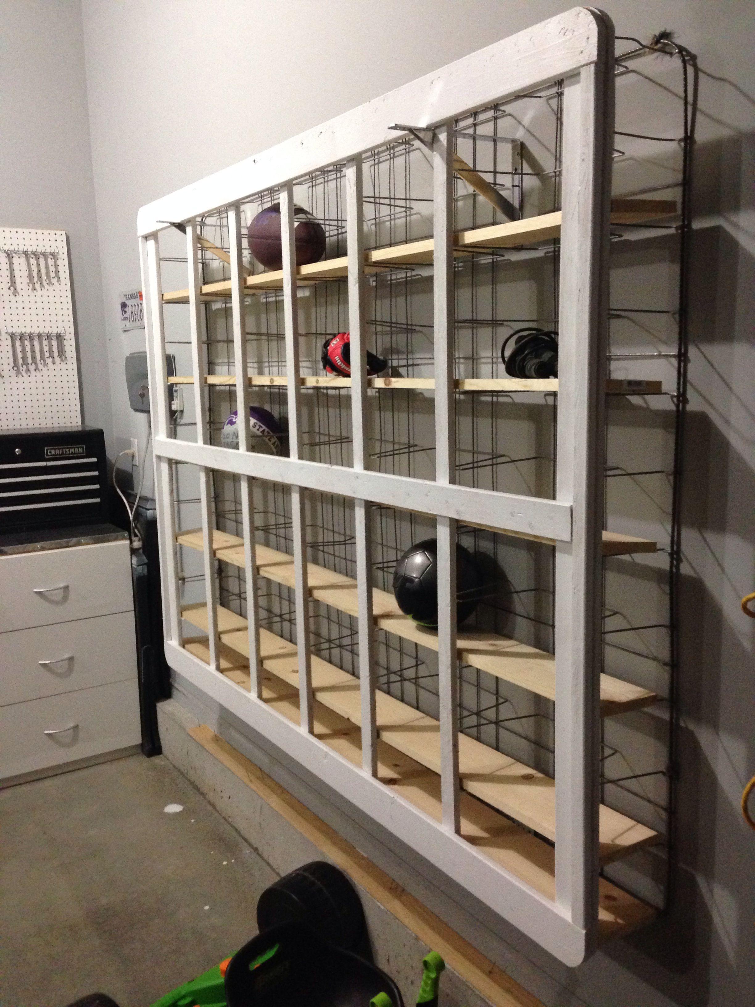Shelving Made From Old Box Springs Diy Locker Mattress Upcycle Upcycle Decor