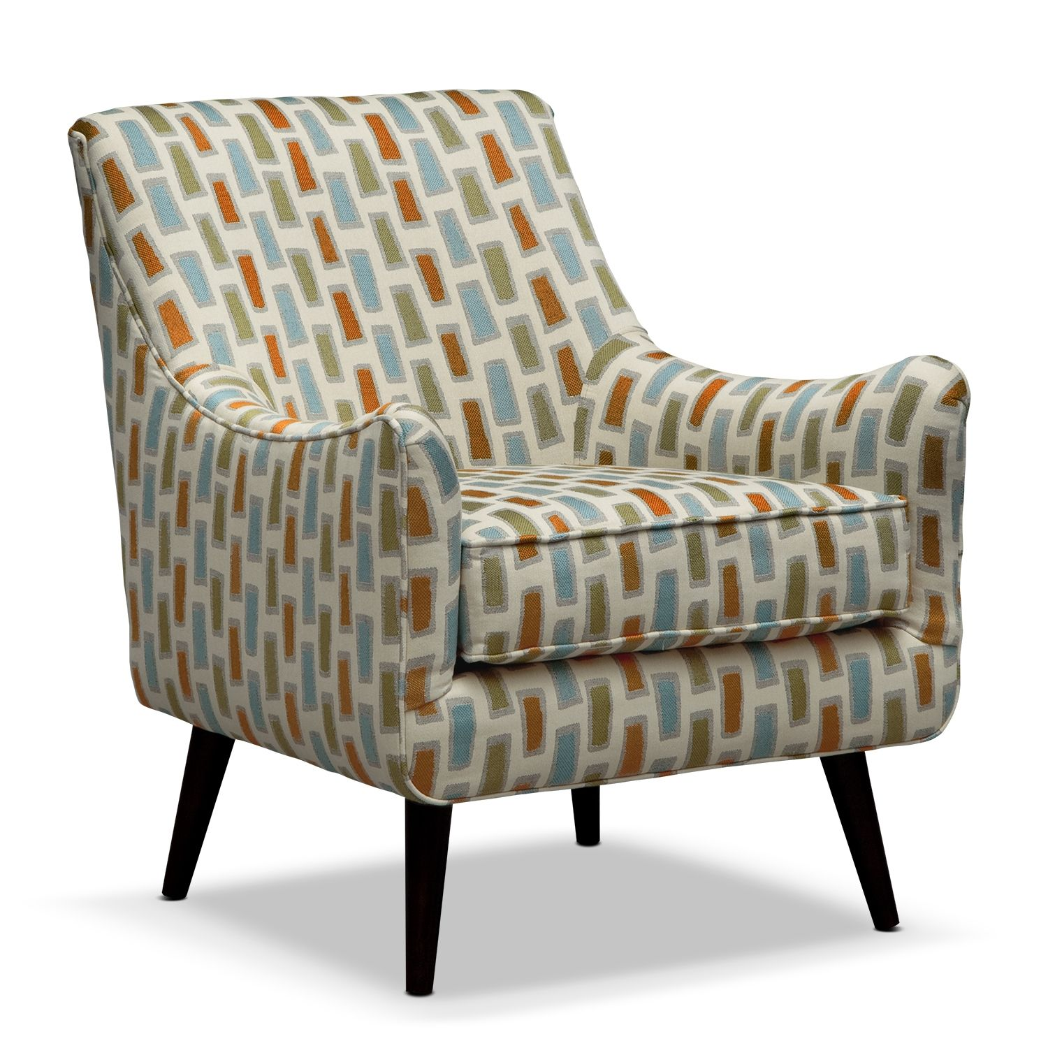 Shop for a Cindy Crawford Home Rosemere Azure Accent Chair at
