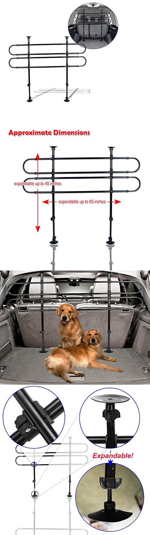 Car seats and barriers fence pet dog cages car vehicle