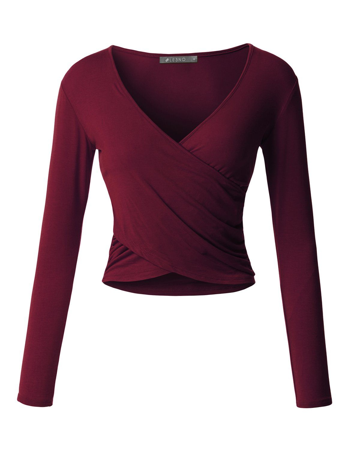 352a697b This lightweight long sleeve crop top is perfect for any occasion. You can  wear it casually with high waisted denim pants or dress it up with a fitted  midi ...