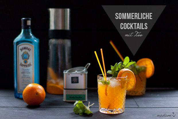Summer Cocktail with Tea http://elbmadame.de/erfrischende-sommer-cocktails-samova/