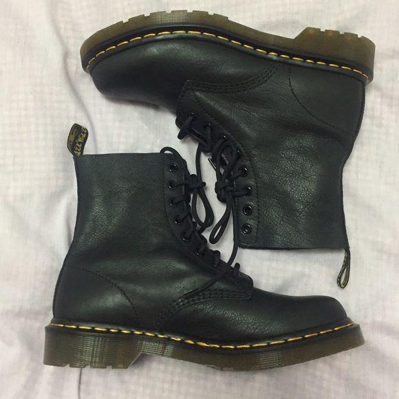 dr martens soft leather black Dr