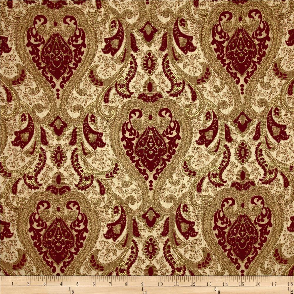 Kaslen Chenille Upholstery Saxon Crimson Period