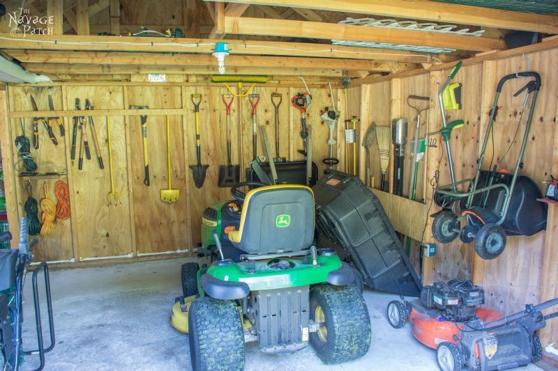 Garden Shed Organization Ideas And Tips The Navage Patch Shed Storage Shed Design Shed Organization