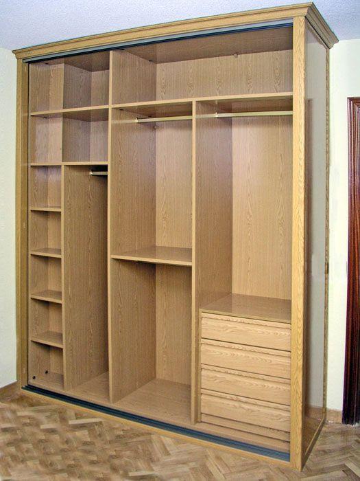 hacer interior de armarios empotrados a medida blancos - Como Hacer Armario Empotrado