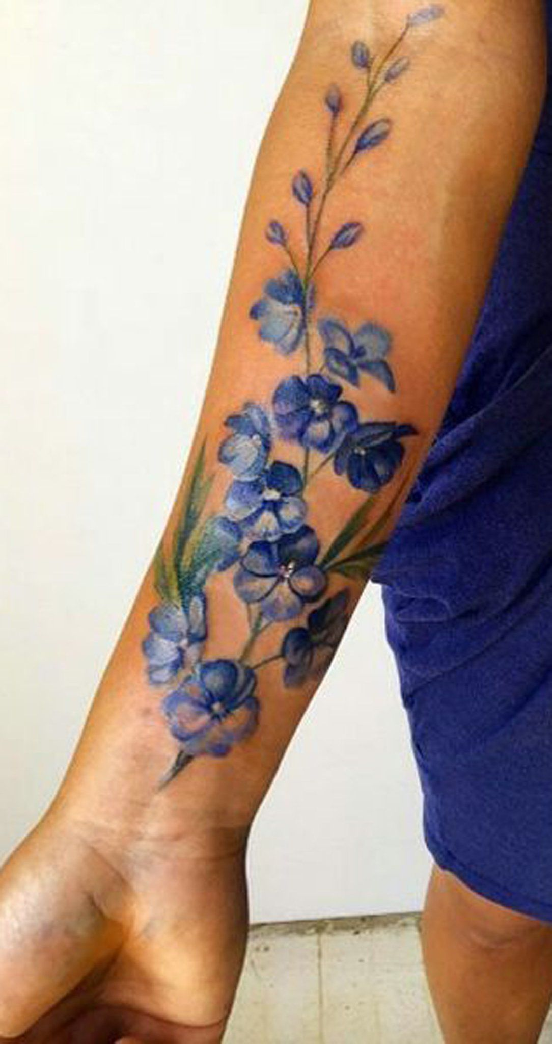 Watercolor Flower Forearm Tattoo Ideas for Women - ideas ...