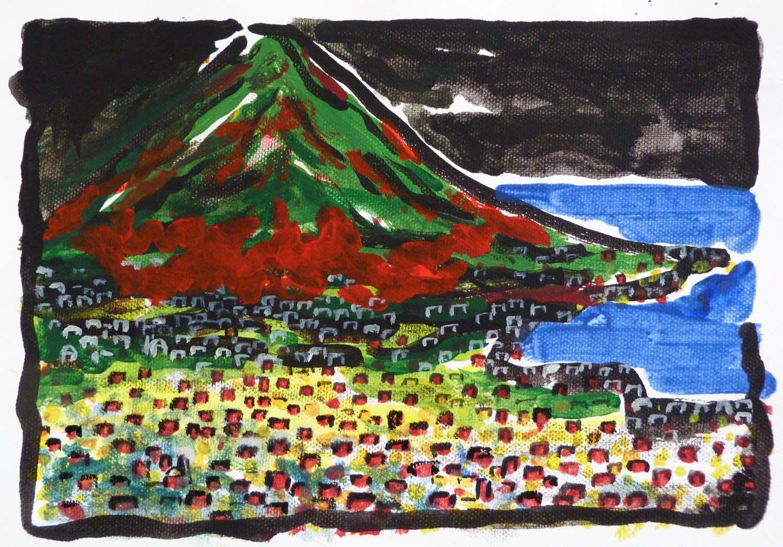 Vesuvio N.3. Painting  of Piero Petillo