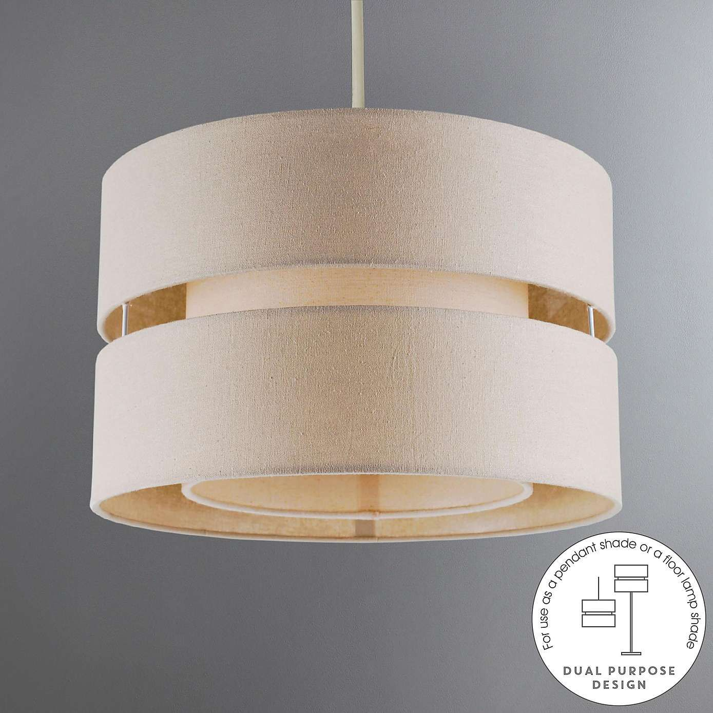 Frea Large Pendant Light Shade Dunelm