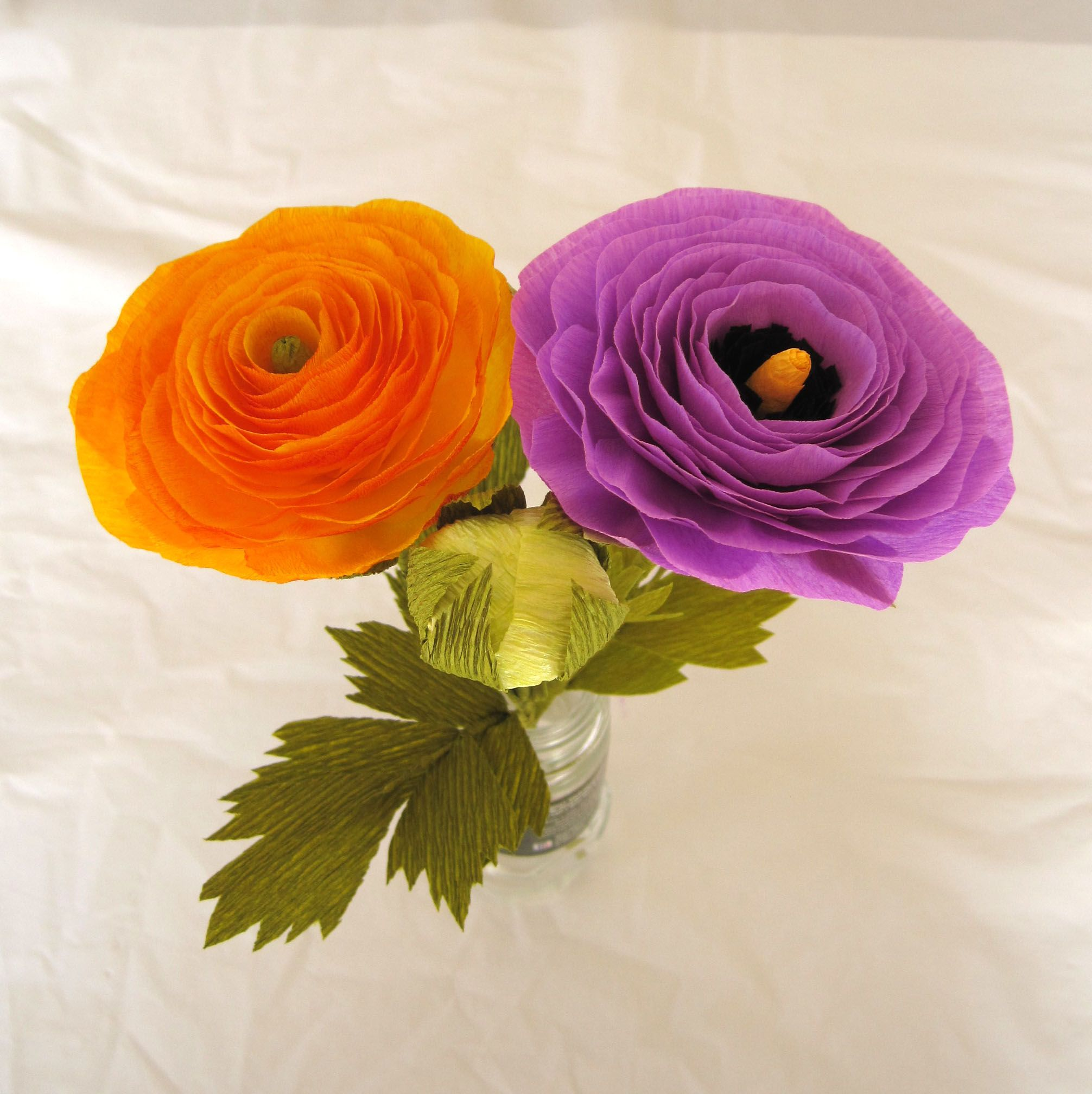 Follow Along As I Learn To Make A Crepe Paper Ranunculus Flower With