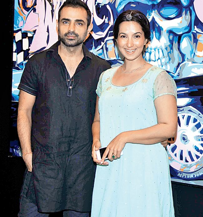Mayank Anand And Shraddha Nigam At An Art Preview In Sobo Bollywood Fashion