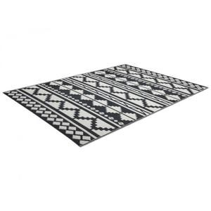 Tapis D Exterieur Elbe Polypropylene 160x230cm Noir Et Blanc Tapis Exterieur Tapis Exterieur