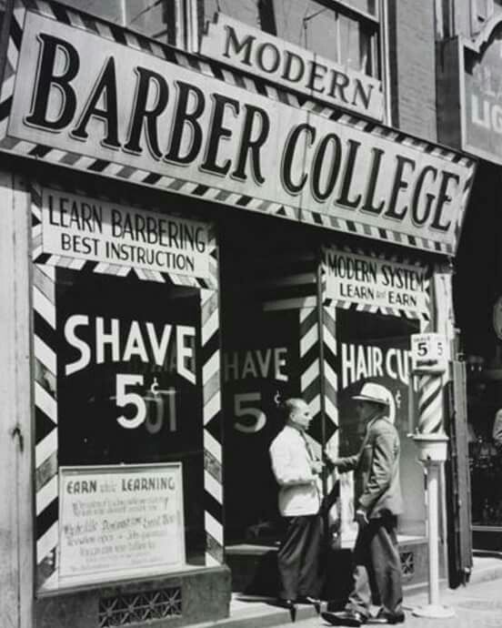 Great visage of an old world Barber School | Barberism in