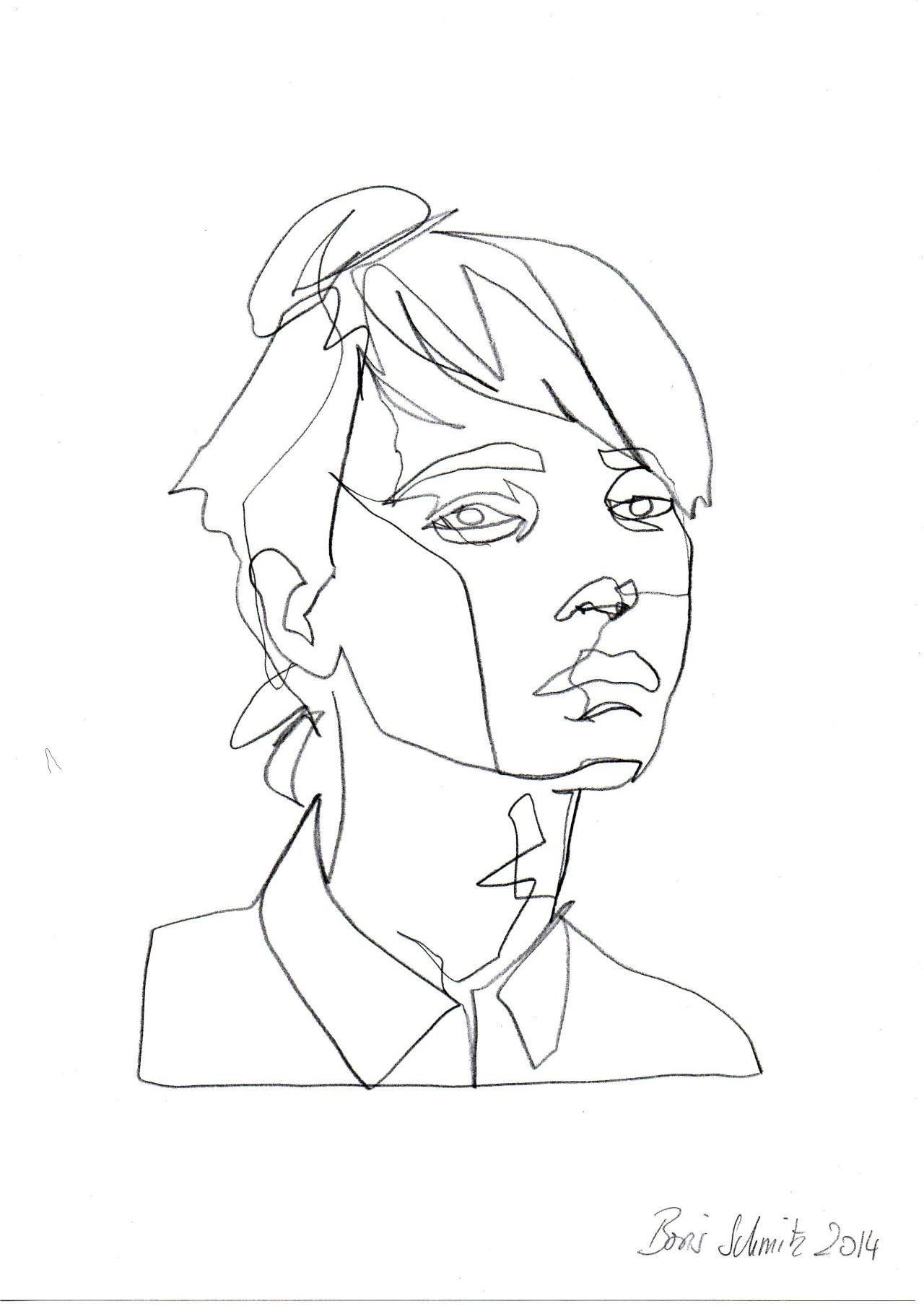 Simple Continuous Line Art : Continuous line drawing tumblr images portraits