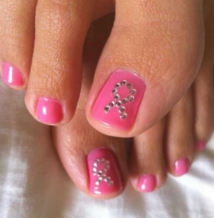 Awareness Cancer Nails Toe Nails Nails