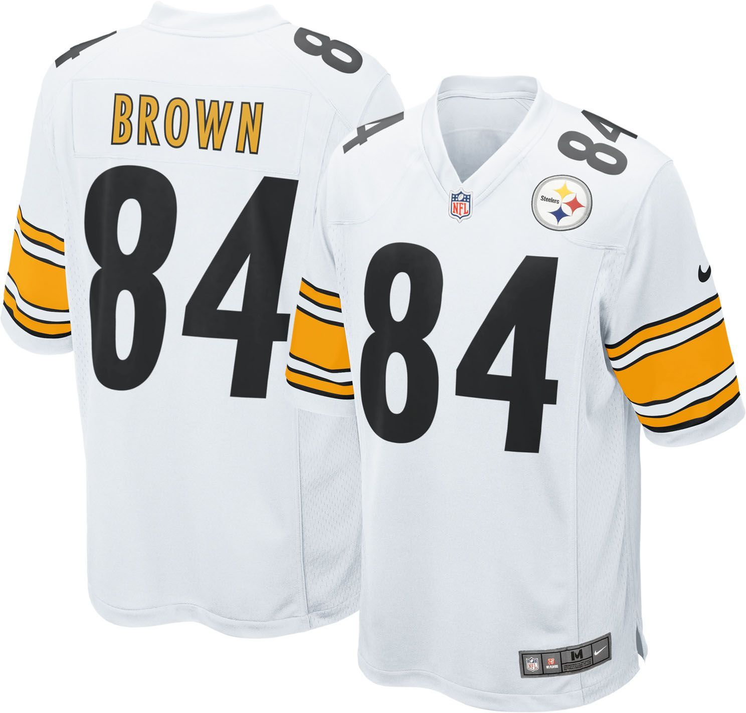 hot sale online 30d9e 1a7a7 Nike Men's Away Game Jersey Pittsburgh Antonio Brown #84 ...