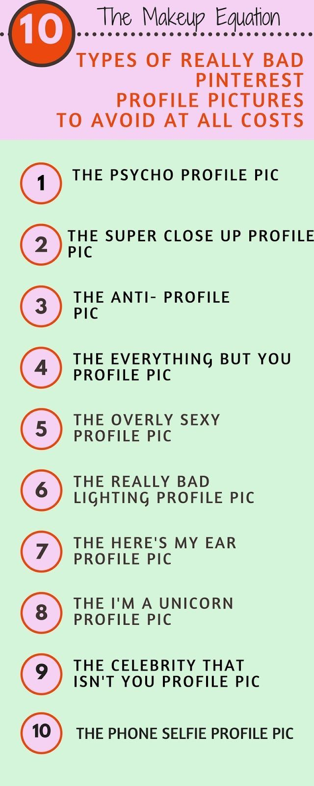 10 Types of Really Bad Pinterest Profile Pictures To Avoid