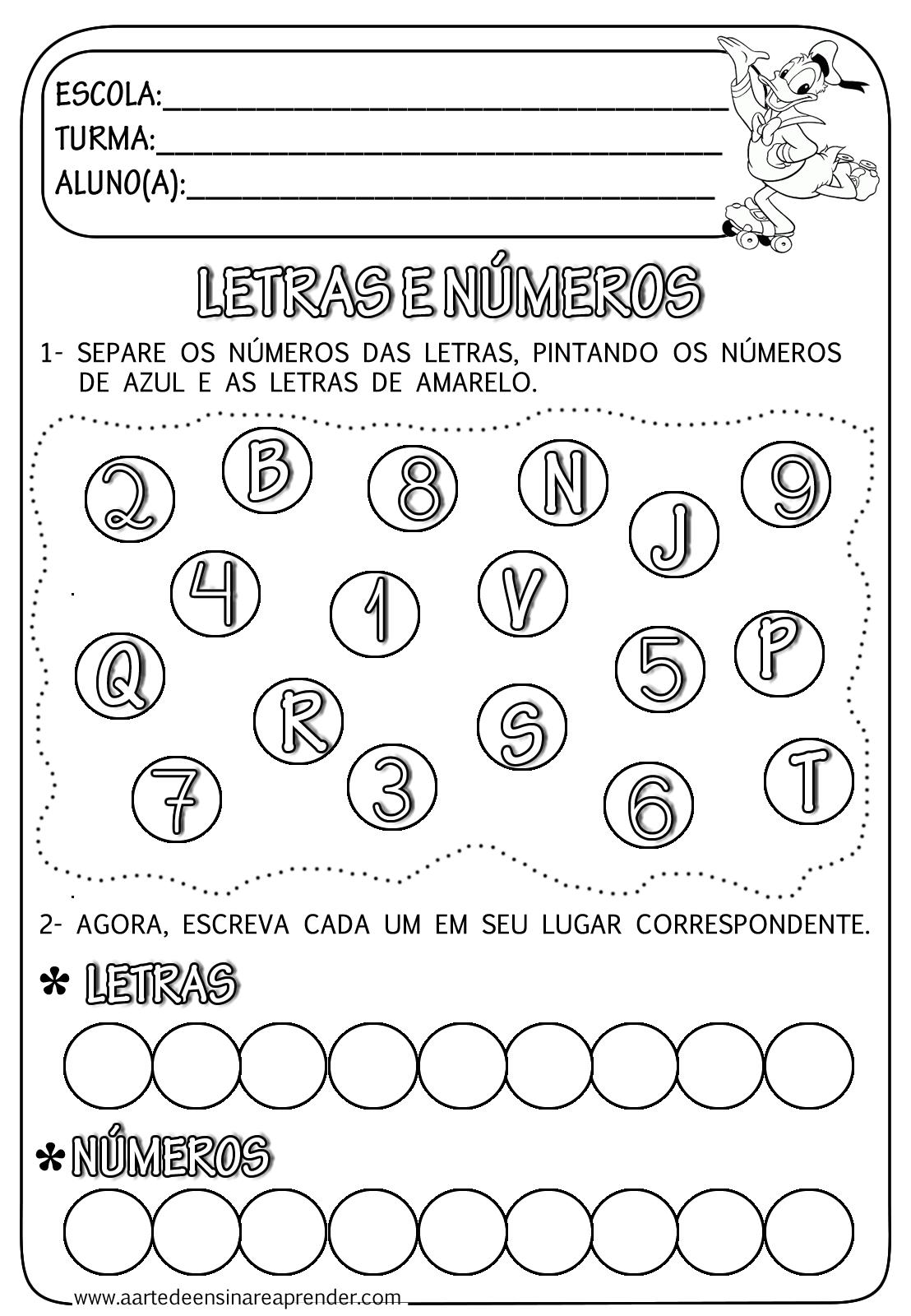 N%C3%9AMEROS+E+LETRAS.png (1108×1600)   atividades   Pinterest