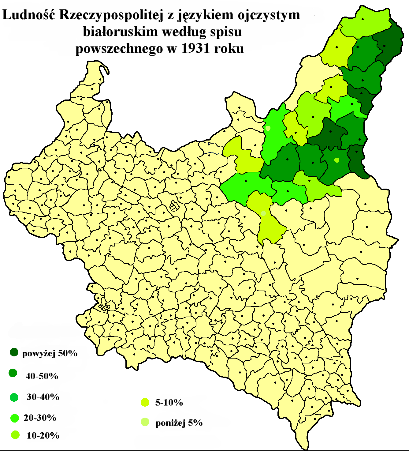 Belarusian language frequency in poland based on polish census of belarusian language frequency in poland based on polish census of 1931 sciox Images