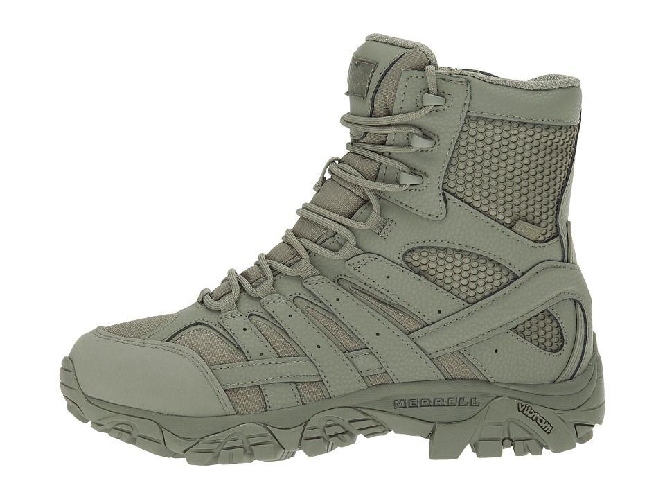 ecd9b059a52 Merrell Work Moab 2 8 Tactical Waterproof Women's Lace-up Boots Sage ...