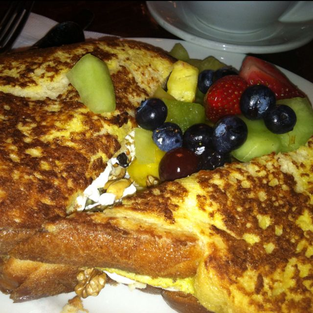 The Cupping Room Café: Stuffed French Toast #SoHo #NYC