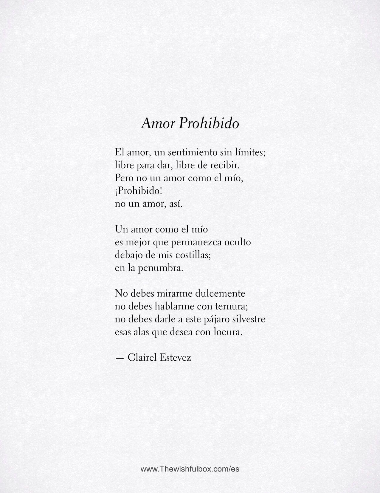 Amor Prohibido Poesía Y Poema De Amor Poema De Amor Poemas De Amor Libros Letras De Poemas
