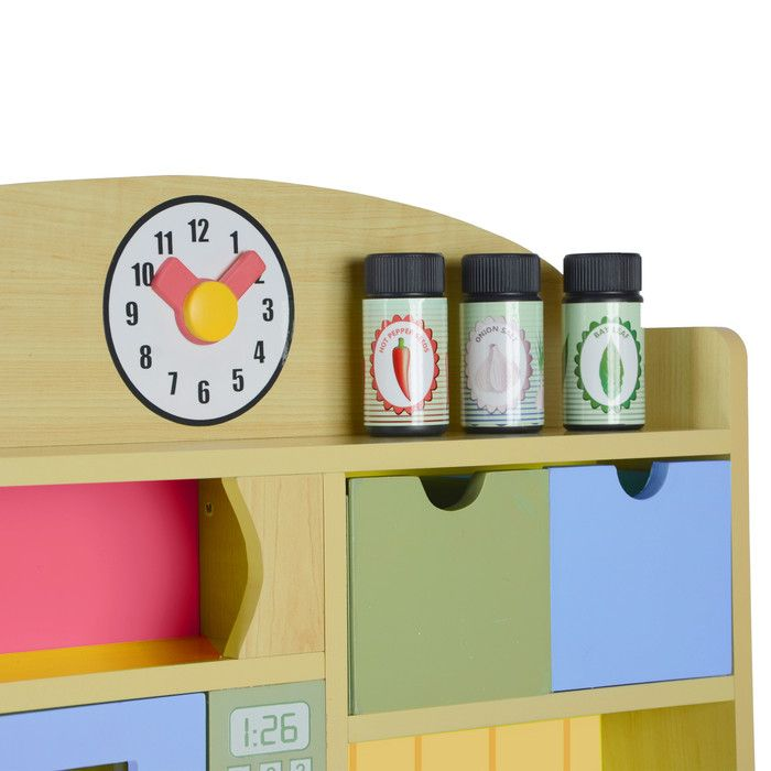 Teamson Kids Little Chef Wooden Play Kitchen with Accessories & Reviews   Wayfair