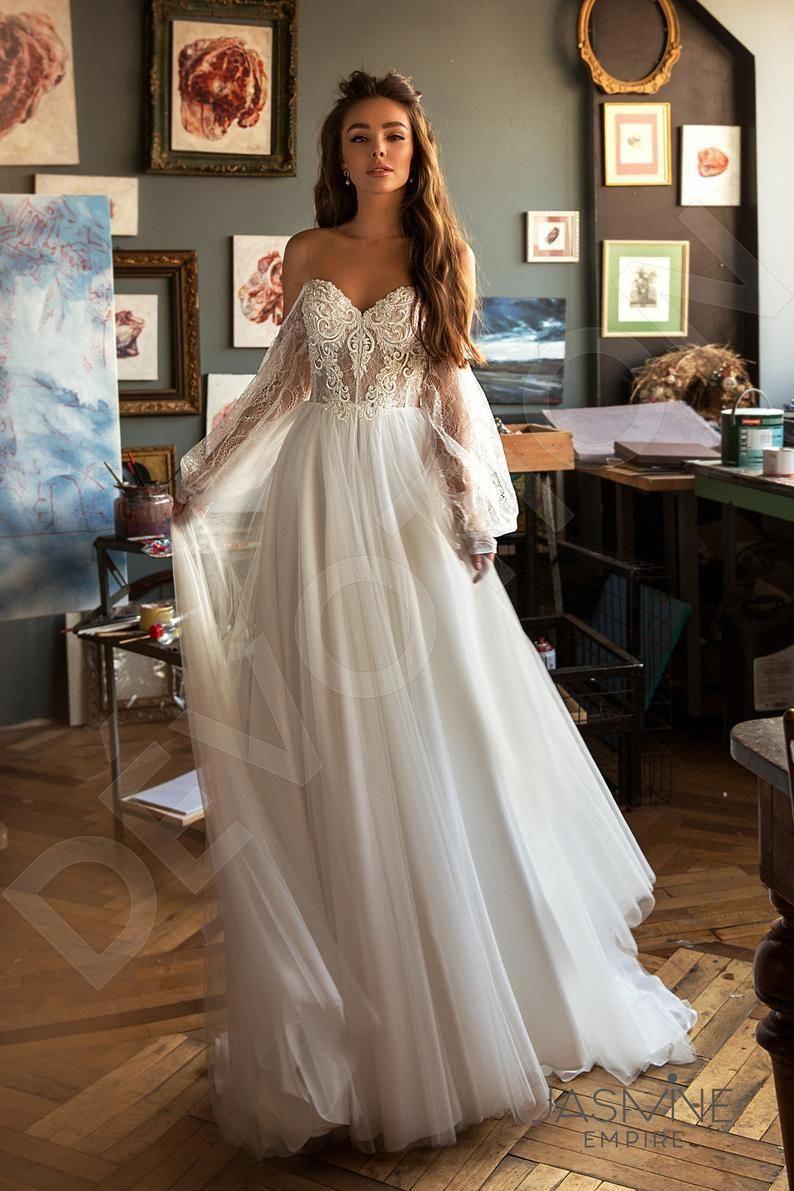 Individual size Aline silhouette Roxana wedding dress