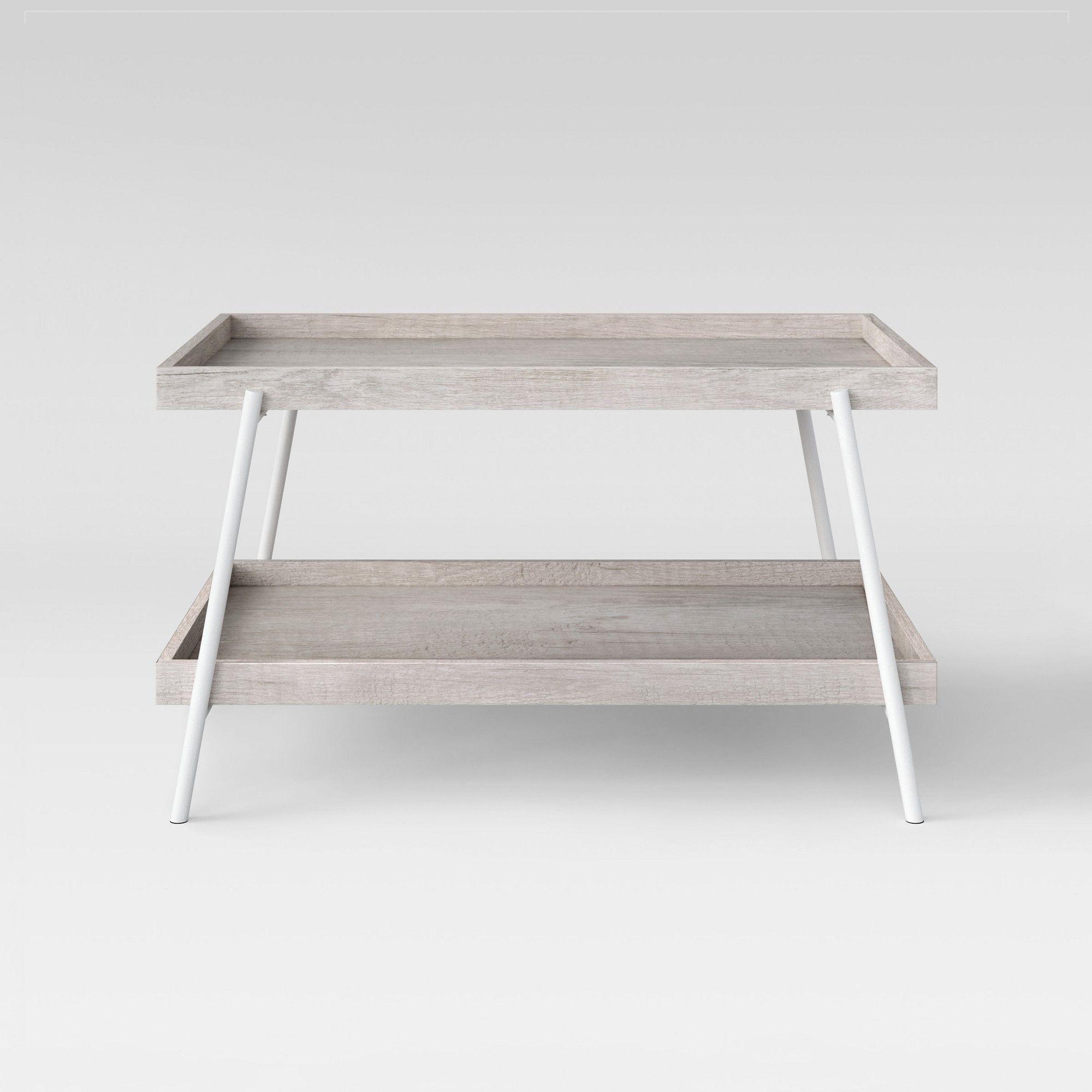 Esszimmermöbel mit lagerung hillside coffee table  white  project  weathered white