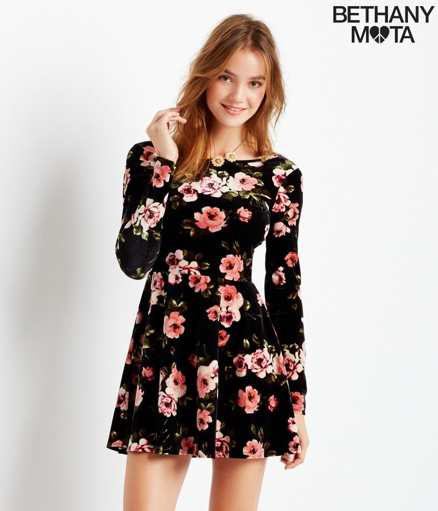 Aeropostale floral knit maxi dress