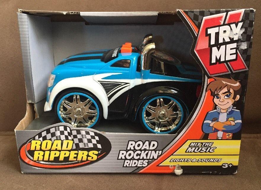 Road Rippers Road Rockin Rides Mix The Music Lights N Sound Nib Blue Truck Ebay Light Music Rockin Riding