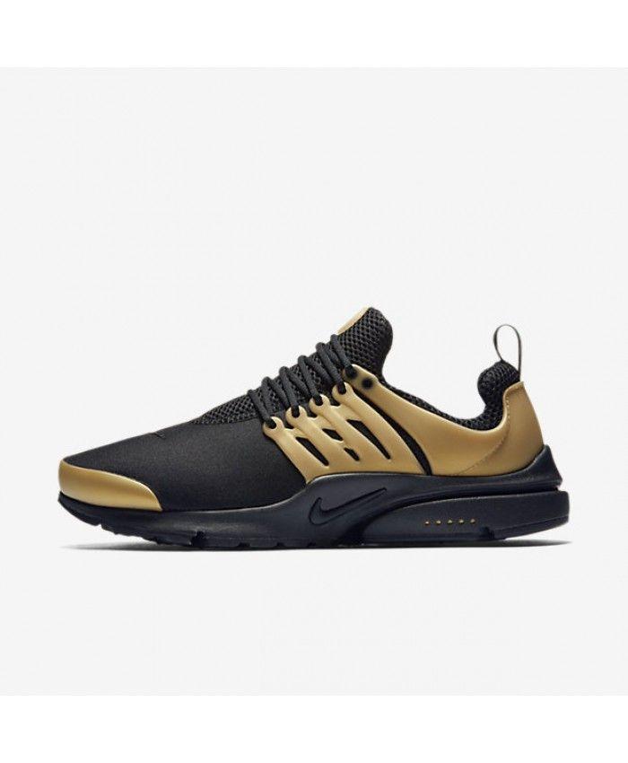 ecaf6e38059 Nike Air Presto Essential Black Metallic Gold White Mens Shoe