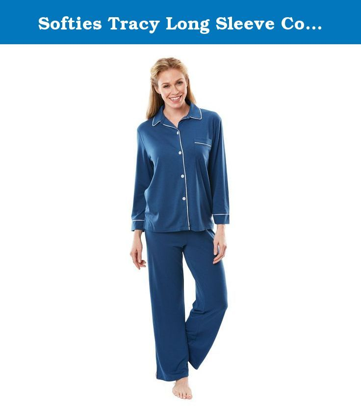 Softies Tracy Long Sleeve Cooling Pajama Set These Classic Button
