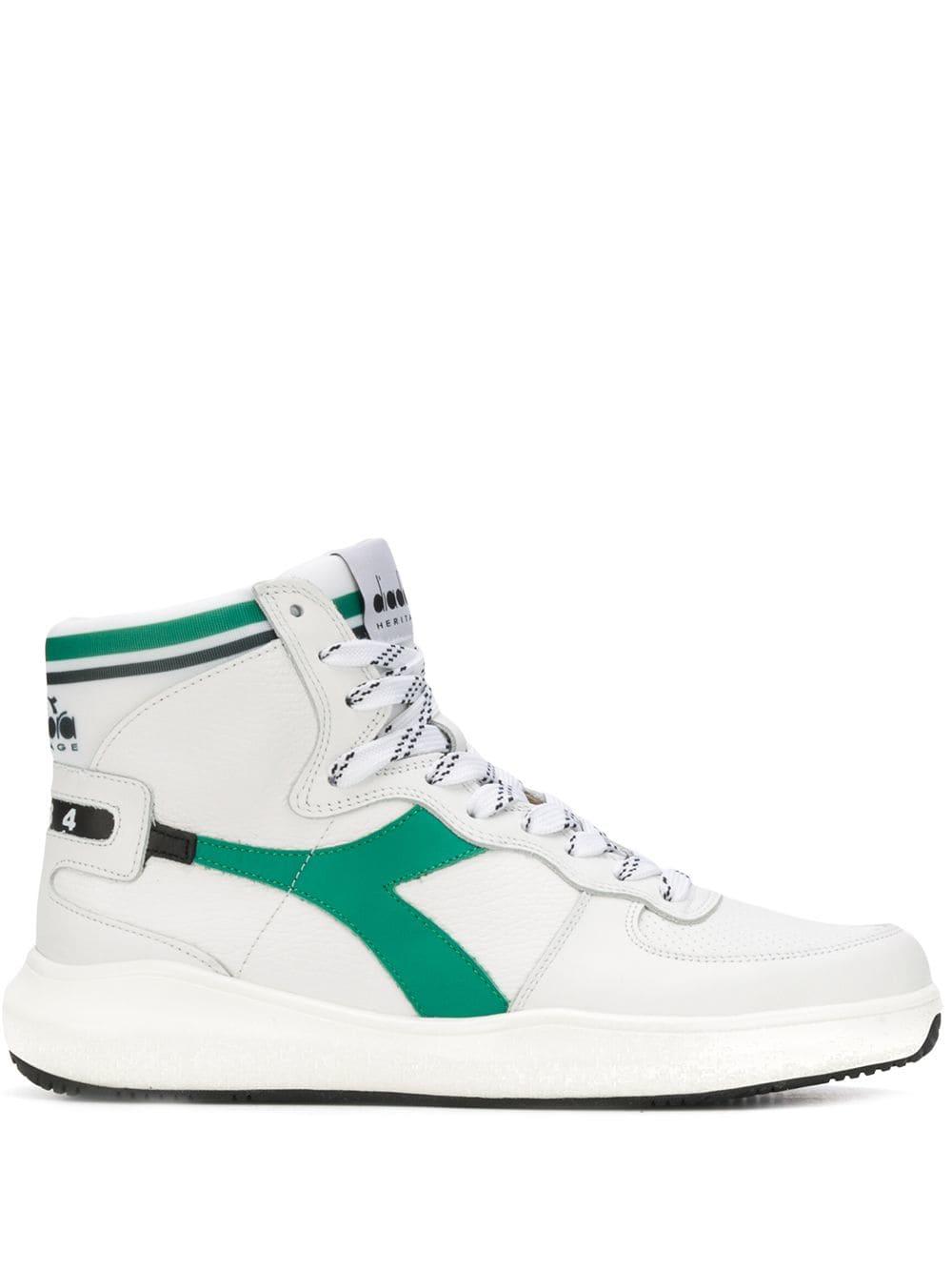 941d1528 DIADORA DIADORA MI BASKET HI-TOP SNEAKERS - WHITE. #diadora #shoes ...