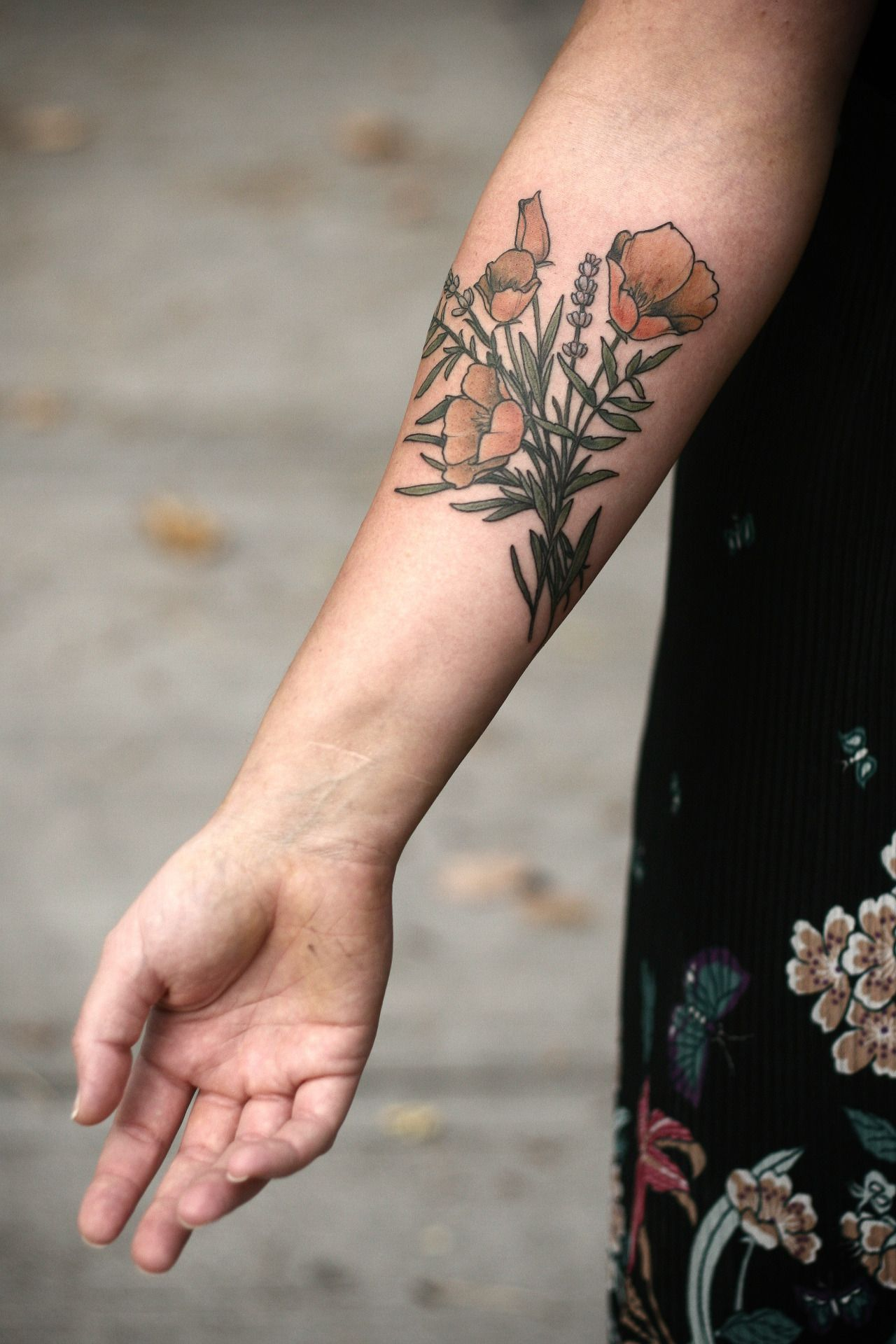 Lavender And California Poppies Imahe Is Permanent But The