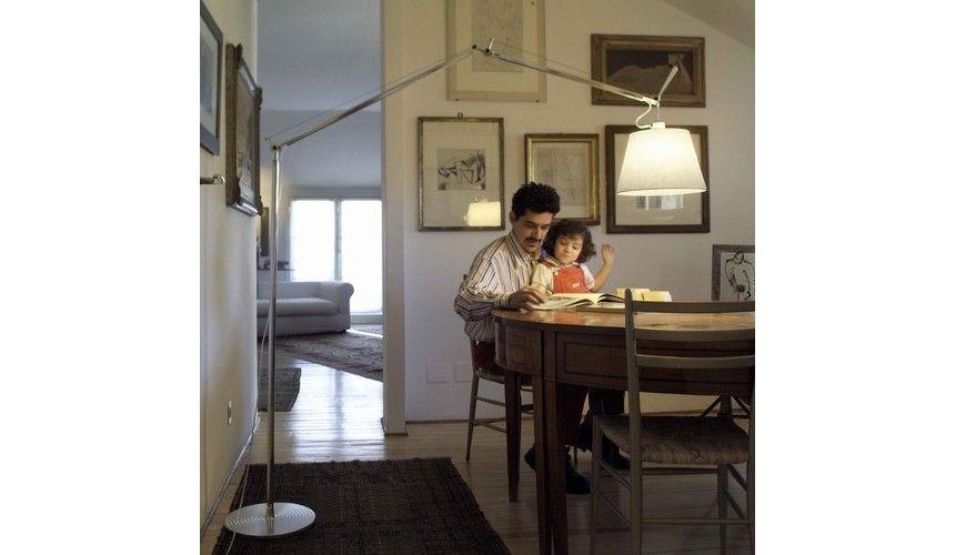 Tolomeo mega terra vloerlamp met dimmer woonkamer
