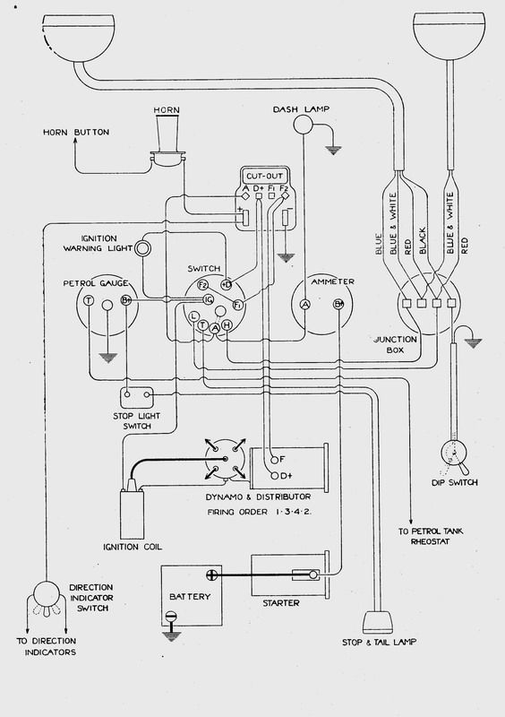 RP Saloon Wiring Diagram | Austin 7 | Pinterest | Cars
