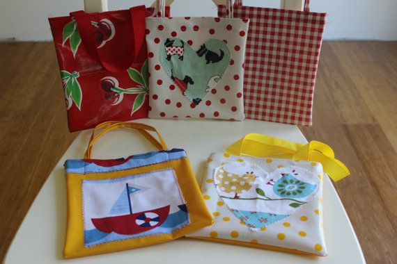 Childrens mini tote bags by SwiftandSwallow on Etsy, $5.50