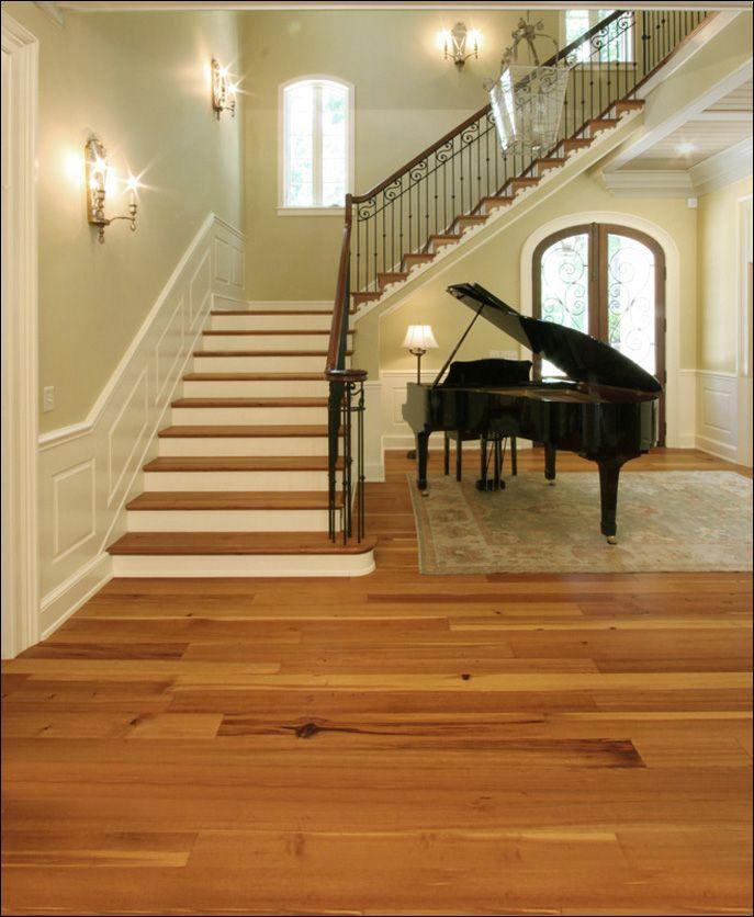 Antique Reclaimed Heart Pine Wide Plank Wood Flooring