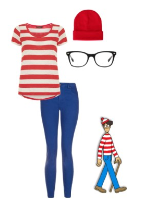 Whereu0027s Waldo Costume (Easy Halloween Costumes)  sc 1 st  Pinterest & Whereu0027s Waldo Costume | Costumes | Pinterest | Waldo costume ...